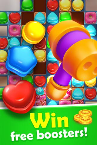 Sweet Candy Mania - Free Match 3 Puzzle Game screenshots 5