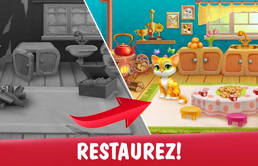 Télécharger gratuit Garden Pets Puzzle – Jeu de Match 3 gratuit APK MOD 1