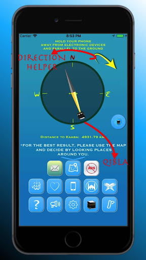 Qibla Compass for Namaz, Qibla Direction, u0627u0644u0642u0628u0644u0629 2.2.6 Screenshots 4