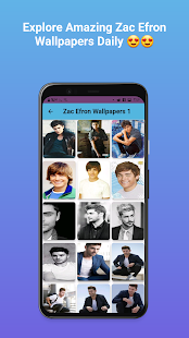 Zac Efron Wallpapers 3 APK + Mod (Unlimited money) إلى عن على ذكري المظهر