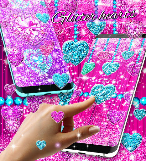 2021 Glitter hearts live wallpaper android2mod screenshots 4