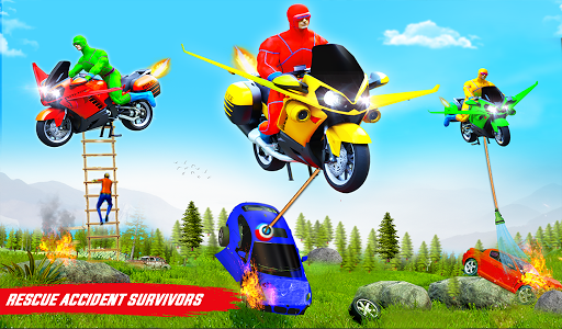 Superhero Flying Bike Taxi Driving Simulator Games 11 Screenshots 21