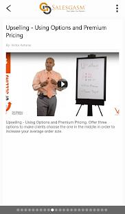 Salesgasm: Free Marketing and Sales Training App