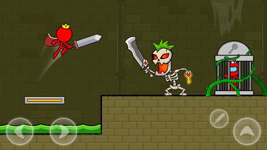 Kırmızı Çöp Adam: Animasyon vs Çöp Adam Dövüşü Apk İndir **2021* 1