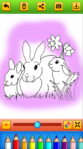 Cute Rabbit Coloring Book screenshots 5