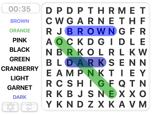 Word Search Games in english screenshots 1
