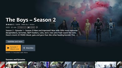 Prime Video - Android TV screenshot thumbnail