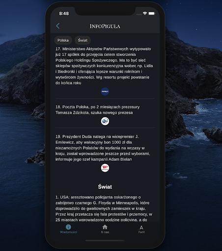 InfoPigula 1.5.0 screenshots 2