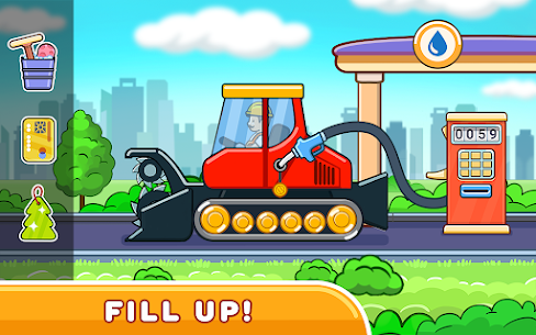 Car games for kids: building and hill racing Apk Download 5