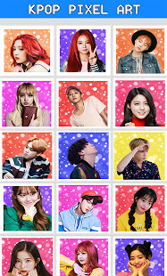 KPOP Pixel Art Free Color By Number Adult Coloring