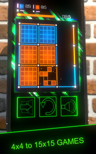 Dots and Boxes (Neon) 80s Style Cyber Game Squares apkdebit screenshots 1