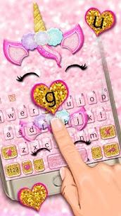 Glisten Unicorn Pinky Keyboard Theme 1.0 Download APK Mod 2