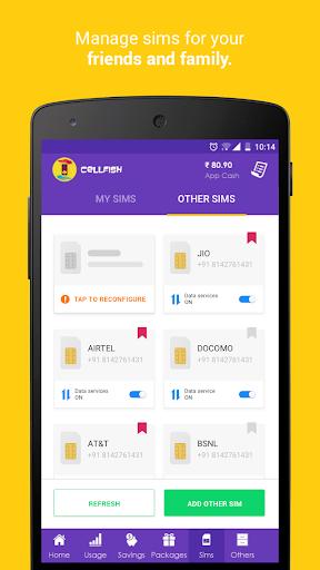 Cell.Fish - Safe SMS, Slick Dialer, Save Money Wiz apktram screenshots 5