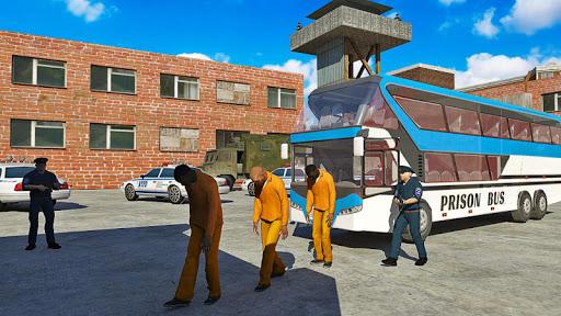 american police prisoner bus simulator- free games screenshot 1