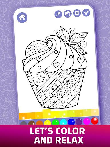 Relaxing Adult Coloring Book 2.9 screenshots 8