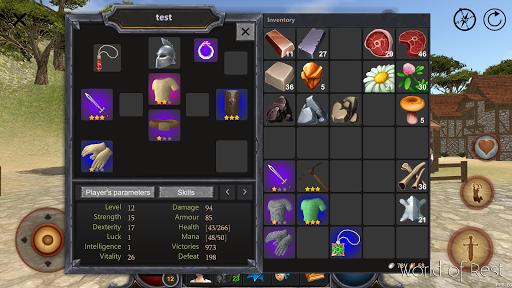 Code Triche World Of Rest: Online RPG mod apk screenshots 2