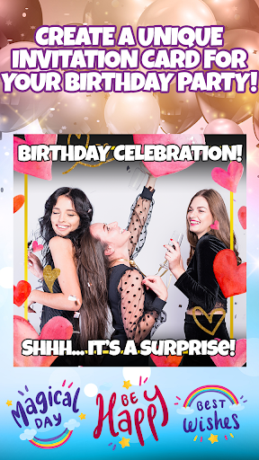 Birthday Party Invitation Card Maker with Photo 1.0 Screenshots 8