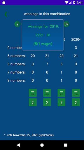 Keno BY  statistics 1.2.18 screenshots 4