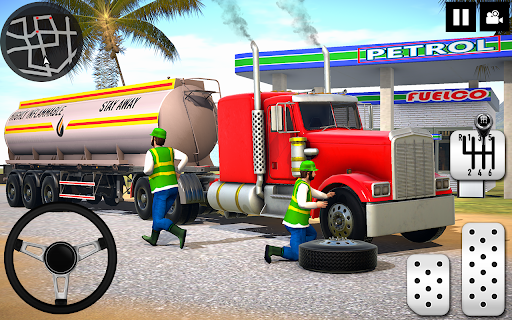 Oil Tanker Truck Driver 3D - Free Truck Games 2020 modiapk screenshots 1
