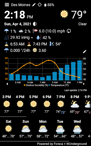 WhatWeather - Weather Station free without ads  screenshots 2