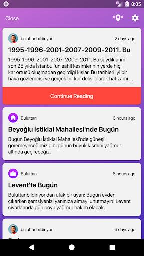 Buluttan - Weather of Turkey 2.6.0 Screenshots 4