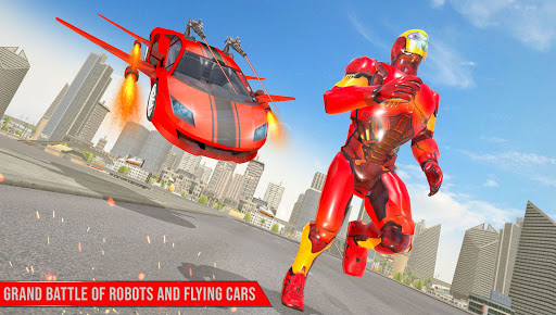 Flying Robot Car Games - Robot Shooting Games 2020 2.3 Screenshots 1