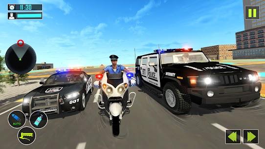 US Police Motor Bike Gangster Chase Games Apk Son Sürüm 2021 5