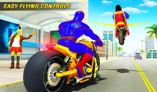 Superhero Flying Bike Taxi Driving Simulator Games 11 Screenshots 17