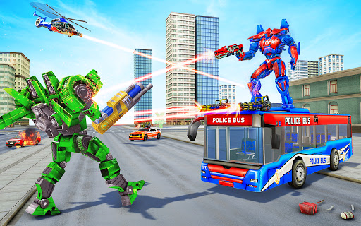 Bus Robot Car Transform War u2013Police Robot games 3.9 screenshots 9