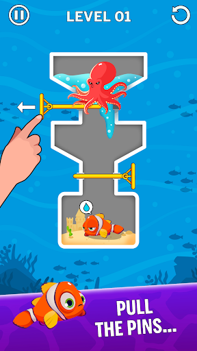 Water Puzzle - Fish Rescue & Pull The Pin 1.0.22 Screenshots 1