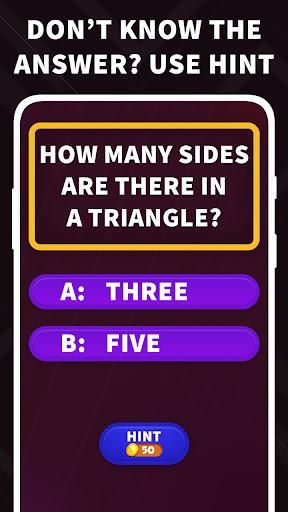 TRIVIA - Free Millionaire Puzzle Games Offline App 1.6 screenshots 2