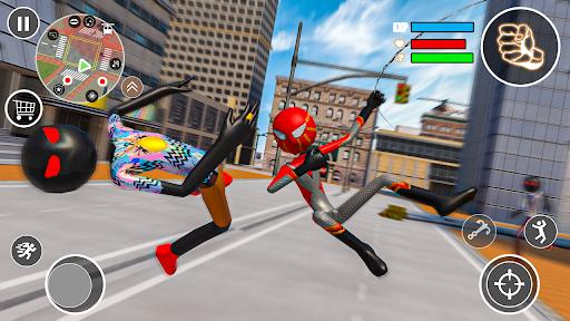 Flying Stickman Rope Hero  screenshots 13