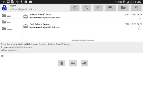 Mail1Click - Secure Mail
