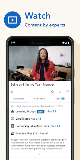 LinkedIn Learning: Online Courses to Learn Skills 0.163.25 Screenshots 2