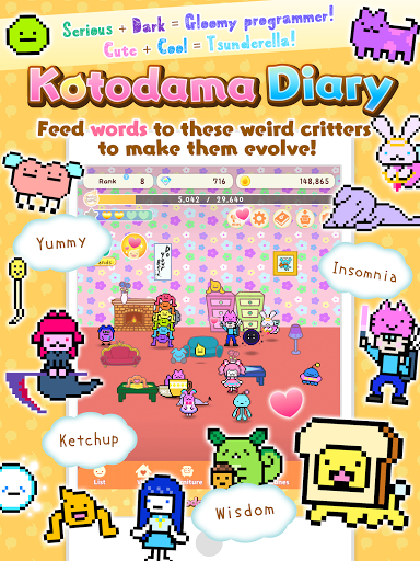 Kotodama Diary: weird words for comical creatures screenshots 9
