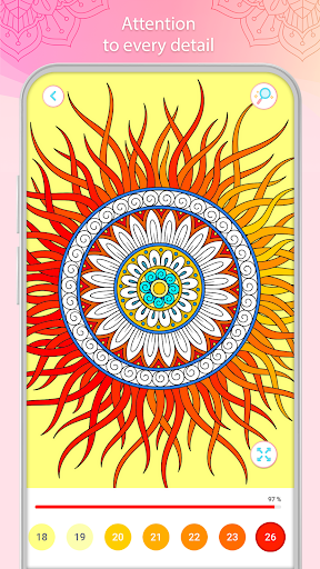 Color by Number u2013 Mandala Book modavailable screenshots 3
