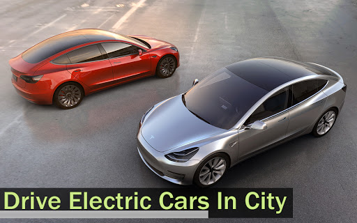 Electric Car Simulator 2021: City Driving Model X Apkfinish screenshots 5