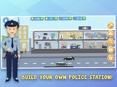 Police Inc Mod Apk: Tycoon police station builder (Unlimited Money) 5
