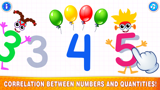 Learning numbers for kids! Writing Counting Games! apkslow screenshots 5