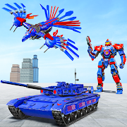 Tank Robot Game 2020 – Police Eagle Robot Car Game