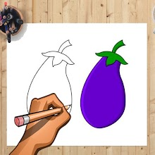 How to Draw Eggplant And Other Vegetables Easily APK
