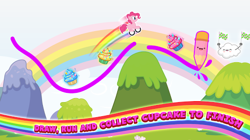 Pony Go : Drawing Race - Rainbow Paint Lines 1.0.0 screenshots 2