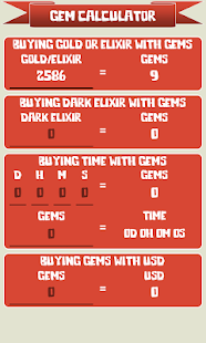 🏰 Gem Calculator for Clash of Clans Screenshot