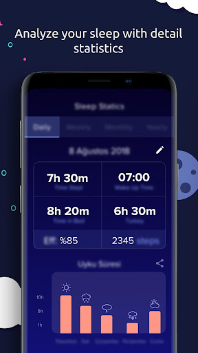 Sleeptic : Sleep Track & Smart Alarm Clock 1.8.7 Screenshots 2