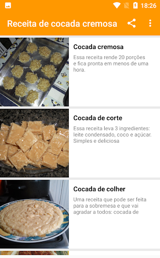 receita de cocada cremosa 1.0.5 screenshots 3