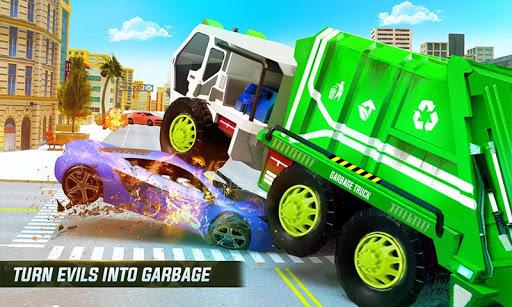 Flying Garbage Truck Robot Transform: Robot Games screenshots 1