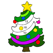 Christmas Color by Number: Kids Crayon, Paint Book