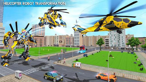 Helicopter Robot Transform War u2013 Air robot games  screenshots 17