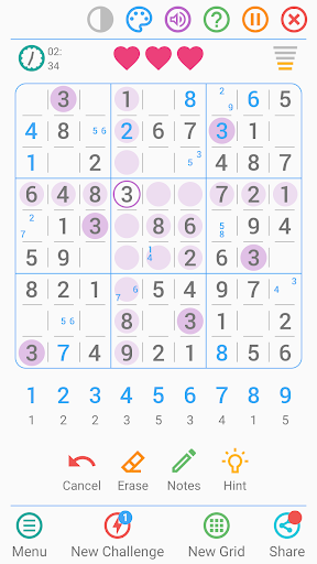 Free Sudoku Game apkpoly screenshots 1