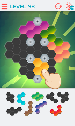 hexagon graph: geometry puzzle screenshot 2